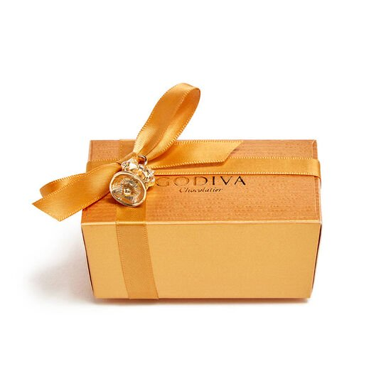 Assorted Chocolate Gold Favor, Bell Charm, 2 pc. image number null