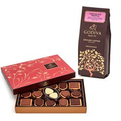 Truffle Coffee, 10 oz. Ground & Chocolate Biscuit Gift Box, 32 pc.