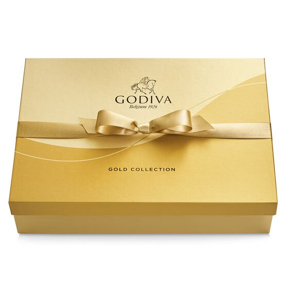 Assorted Chocolate Gold Gift Box, Gold Ribbon, 70 pc. image number null