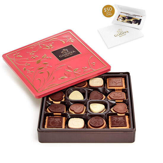 $50 Gift Card & Biscuit Tin, 46 pc. image number null