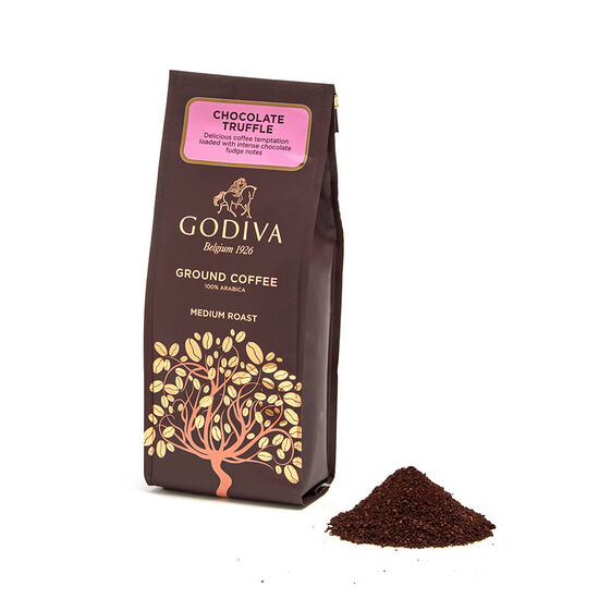 Truffle Coffee, 10 oz. Ground & Chocolate Biscuit Gift Box, 32 pc. image number null