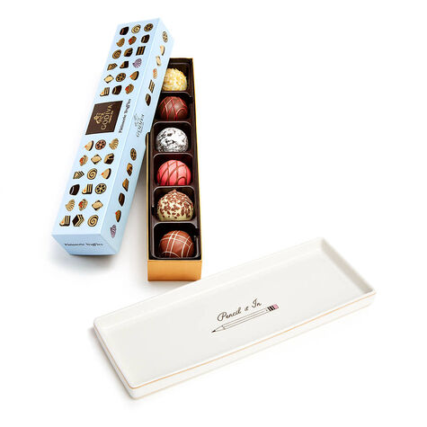 Pencil It In Tray with Patisserie Dessert Flight, 6 pc.