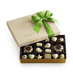 White Chocolate Assortment Gift Box, Kiwi Ribbon, 24 pc.