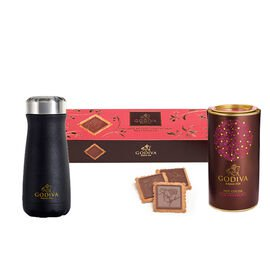 Godiva Traveler Bottle by S'well® with Milk Chocolate Cocoa and Biscuits