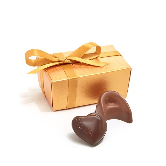 Assorted Chocolate Gold Favor, Personalized Forest Green Ribbon, 2 pc. image number null