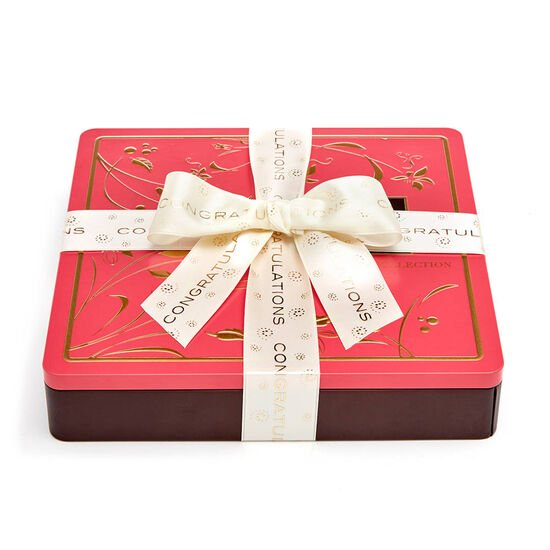 Chocolate Biscuit Tin, Congratulations Ribbon, 46 pc. image number null