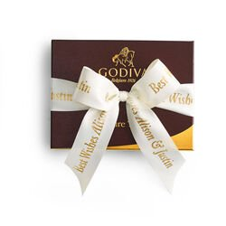 Signature Truffles Gift Box, Personalized Ivory Ribbon, 12 pc.