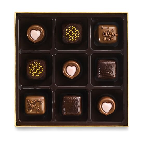 Valentine's Day Assorted Chocolate Gift Box, 9 pc. image number null