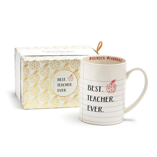 Teacher Mug with Truffle Coffee and Milk Chocolate Biscuits image number null