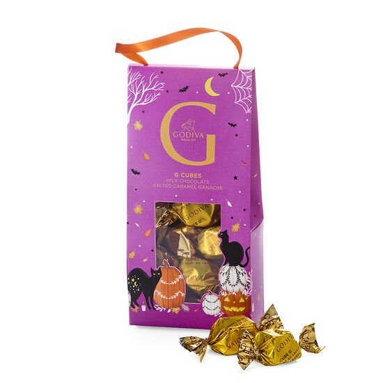 Halloween G Cube Chocolate Truffles Pouch, Set of 2, 10 pc each image number null