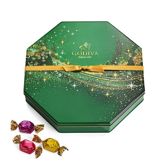 Holiday G Cube Truffle Tin, 50 pc. image number null