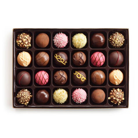 Signature Truffles Gift Box, Fall Ribbon, 24 pc.