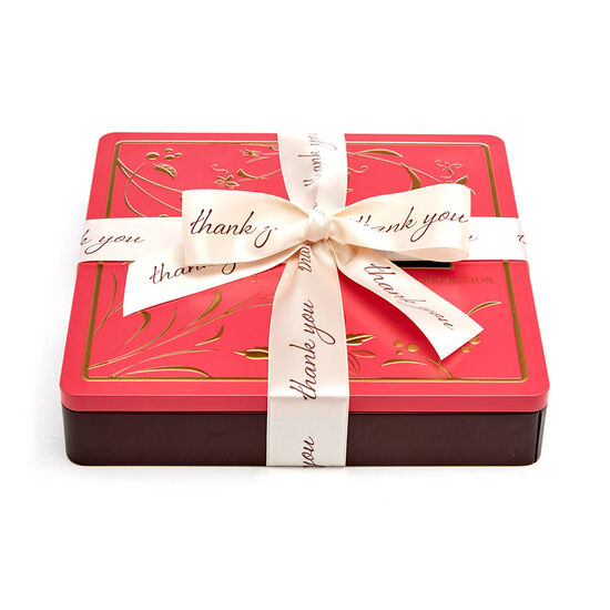 Chocolate Biscuit Tin, Thank You Ribbon, 46 pc. image number null