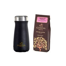 Godiva Traveler Bottle by S'well® with Chocolate Truffle Ground Coffee