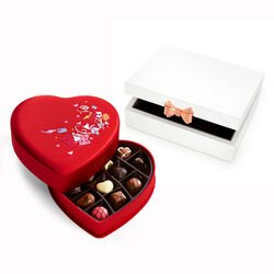 Ted Baker London Jewelry Box with Fabric Heart Chocolate Gift Box, 14 pcs.