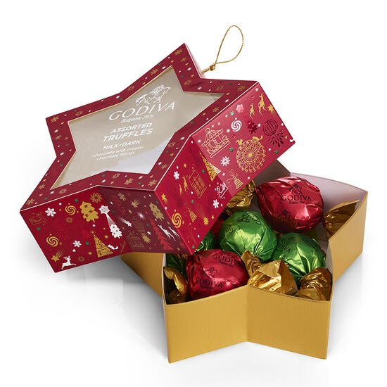 Chocolate-Filled Star Ornament, 10 pc. image number null