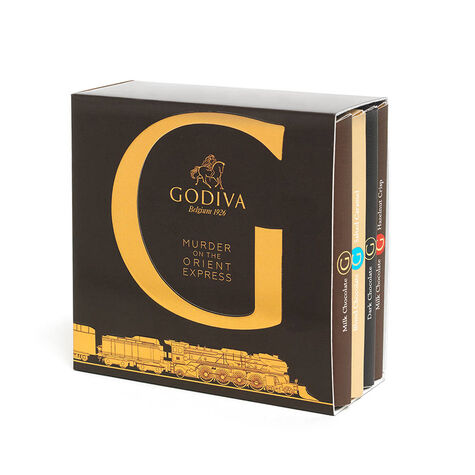 Murder on the Orient Express G by Godiva Chocolate Bar Top Sellers Gift Set, 4 pc.