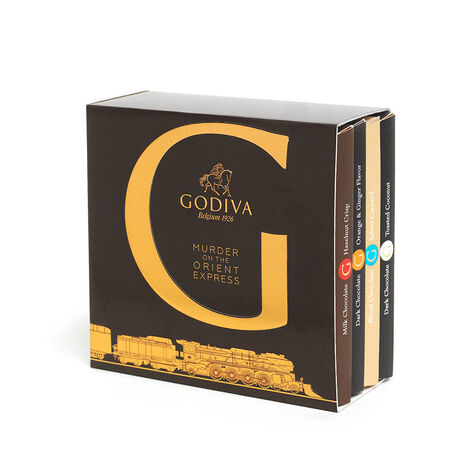 Murder on the Orient Express G by Godiva Chocolate Bar Inclusions Gift Set, 4 pc.