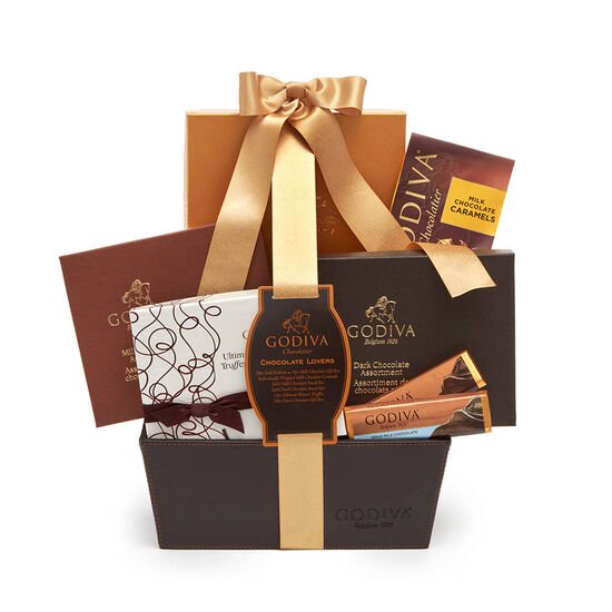 Chocolate Lover's Gift Basket, Classic Ribbon image number null