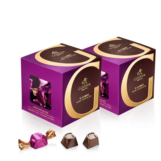 Classic Dark Chocolate G Cube Box, Set of 2, 22 pcs. each image number null