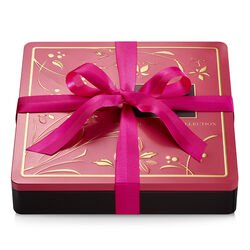 Assorted Chocolate Biscuit Tin, Pink Ribbon, 46 pc.