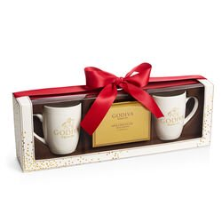 Hot Cocoa Mug Gift Set, Red Ribbon