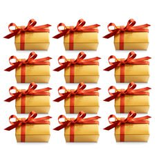 Assorted Chocolate Gold Favor, Fall Ribbon, Set of 12, 2 pc. each