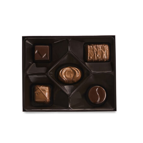 Holiday Assorted Chocolate Gift Box, Set of 6, 5 pc. each