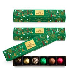 Holiday Chocolate Truffle Flight, Set of 3, 6 pc. each