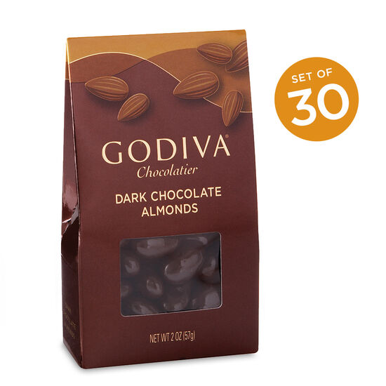 Dark Chocolate Covered Almonds, Set of 30 image number null