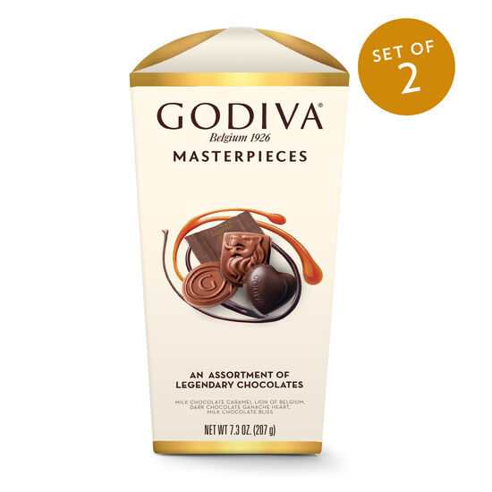 Wrapped Assorted Godiva Masterpieces Chocolate Box, Set of 2 image number null