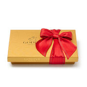 Assorted Chocolate Gold Gift Box, Holiday Ribbon, 8 pc.