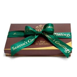 Season's Greetings Signature Truffles, Forest Green Ribbon, 24 pc.