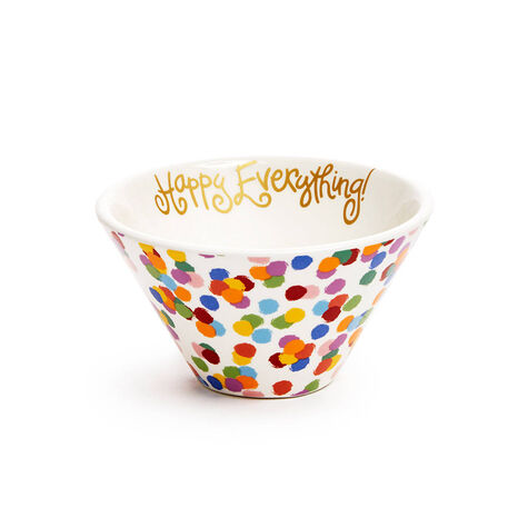 Happy Everything Bowls, Set of 2, with Assorted Chocolate Gold Gift Box, Gold Ribbon, 19 pc