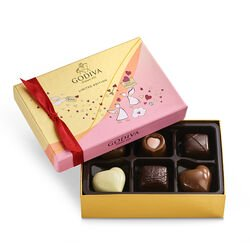 Valentine's Day Assorted Chocolate Gift Box, 6 pc.