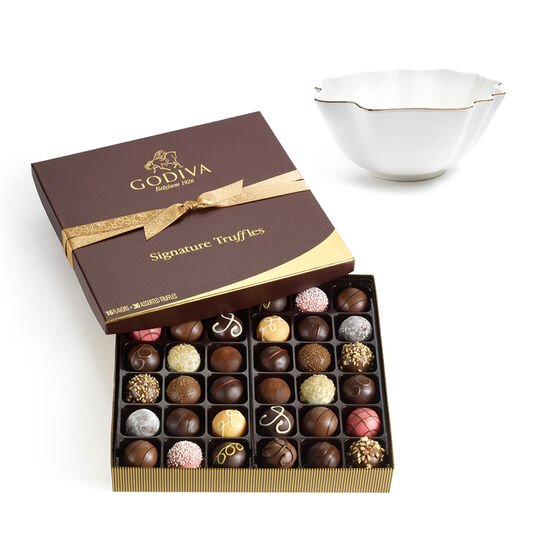 Luxury Gold Bowl with Signature Truffle Gift Box, 36 pc. image number null