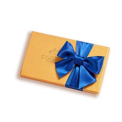 Assorted Chocolate Gold Gift Box, Royal Blue Ribbon, 8 pc.