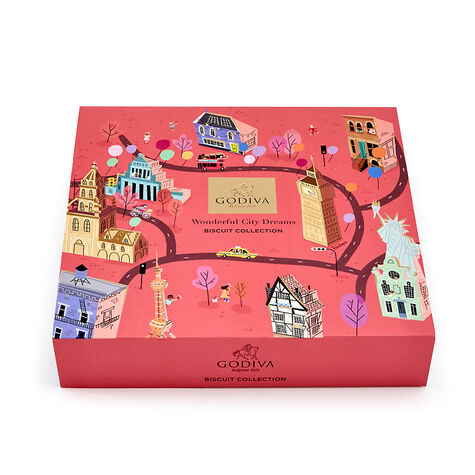 Wonderful City of Dreams Biscuit Tin, 46 pc.
