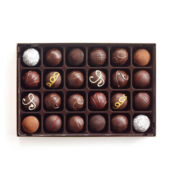 Dark Chocolate Truffles, 24 pc. image number null