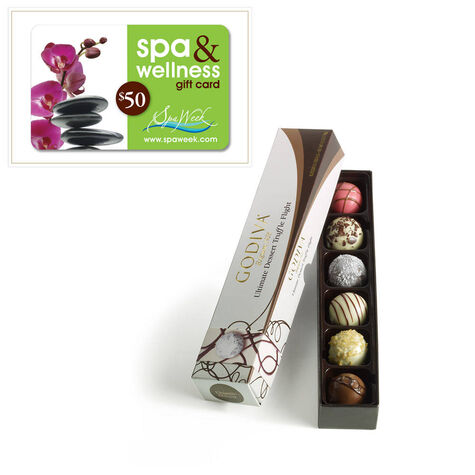 6 pc. Ultimate Dessert Truffle Flight and $50 Spa Gift Card