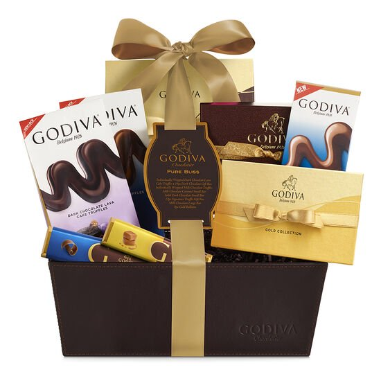 Pure Bliss Chocolate Gift Basket, Classic Ribbon image number null