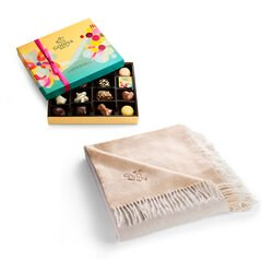 Godiva Throw with Spring Assorted Chocolate Gift Box, 16 pc.