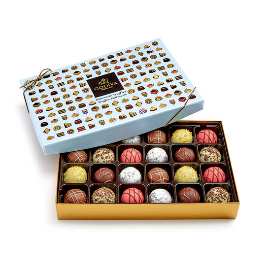 Tiered Marbleized Pedestal with Patisserie Dessert Truffles Gift Box, 24 pc. image number null