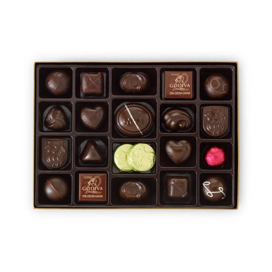 Dark Chocolate Assortment Gift Box, 27 pc. image number null