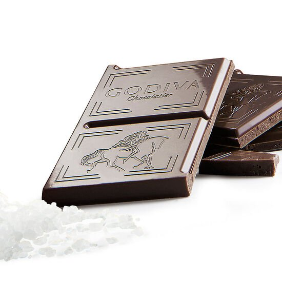 Large 50% Dark Chocolate Sea Salt Bar, Set of 10 image number null