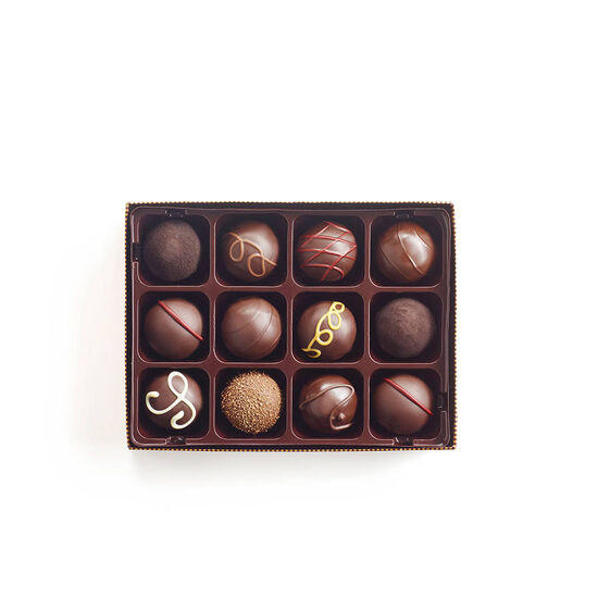 Godiva Throw with Dark Chocolate Truffles, 12 pc. image number null