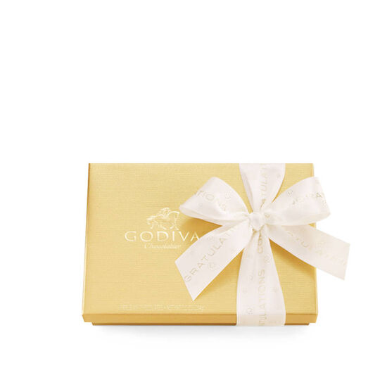 Assorted Chocolate Gold Gift Box, Congratulations Ribbon, 19 pc. image number null