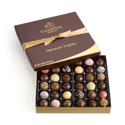 Assorted Signature Chocolate Truffles, Classic Ribbon, 36 pc.