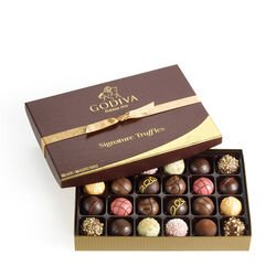 Signature Truffles Gift Box, Classic Gold Ribbon, 24 pc.