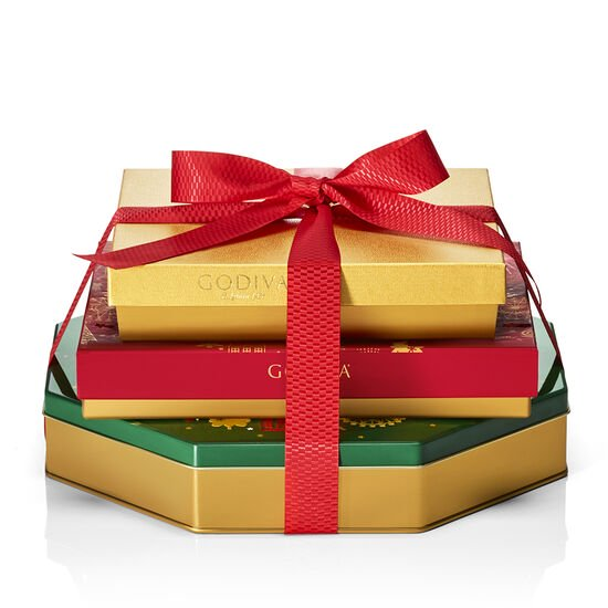 Season's Greetings Chocolate Gift Tower image number null